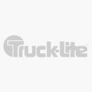 Super 44, LED, Yellow Round, 6 Diode, Front/Park/Turn, Black Polycarbonate, Flange, 12V, Fit 'N Forget S.S.