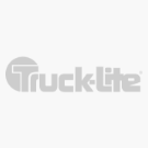 Super 44, LED, Yellow Round, 6 Diode, Front/Park/Turn, Gray Polycarbonate, Flange, 12V, Fit 'N Forget S.S.